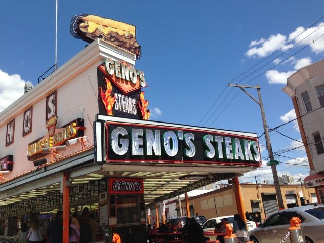 Joe Pearce Visits Geno's Steak Philladelhia, PA