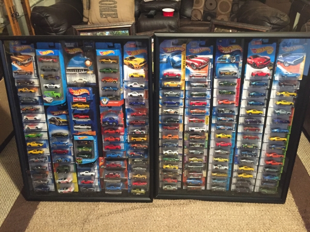 My Birthday - Hot Wheels Shadow Box to Hang in Garage