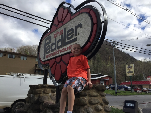 Jaden at the Peddler, Gatlinburg, TN