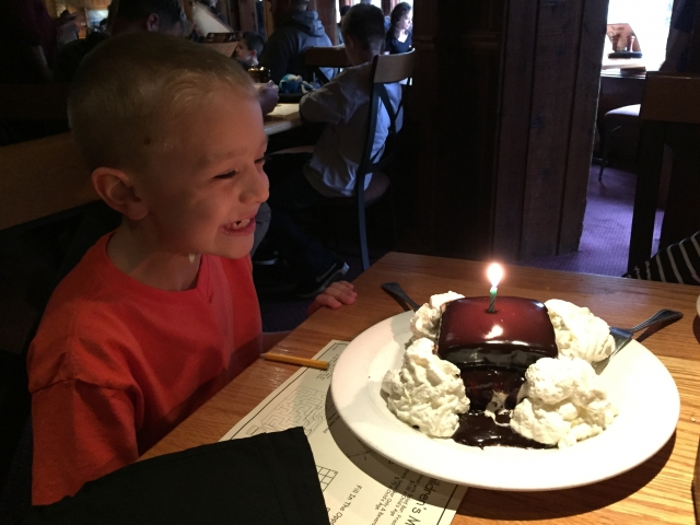 Jaden's Birthday Dinner at the Peddler