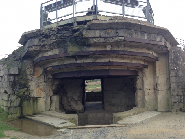Demolished German Bunker Pointe Du Hoc Normandy 01/17/15